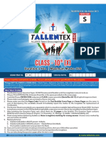 Allen Talent Ex 2018 paper 3012