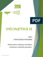 UNIT I Phonological Processes