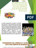 Exposicion Curriculo de Educacion Cultural y Artistica Propuesta de Evaluacion en Aula 2018-19