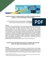 Análise Da Estrutura Organizacional de Um Clube de Futebol Do Interior - Art_adm2014