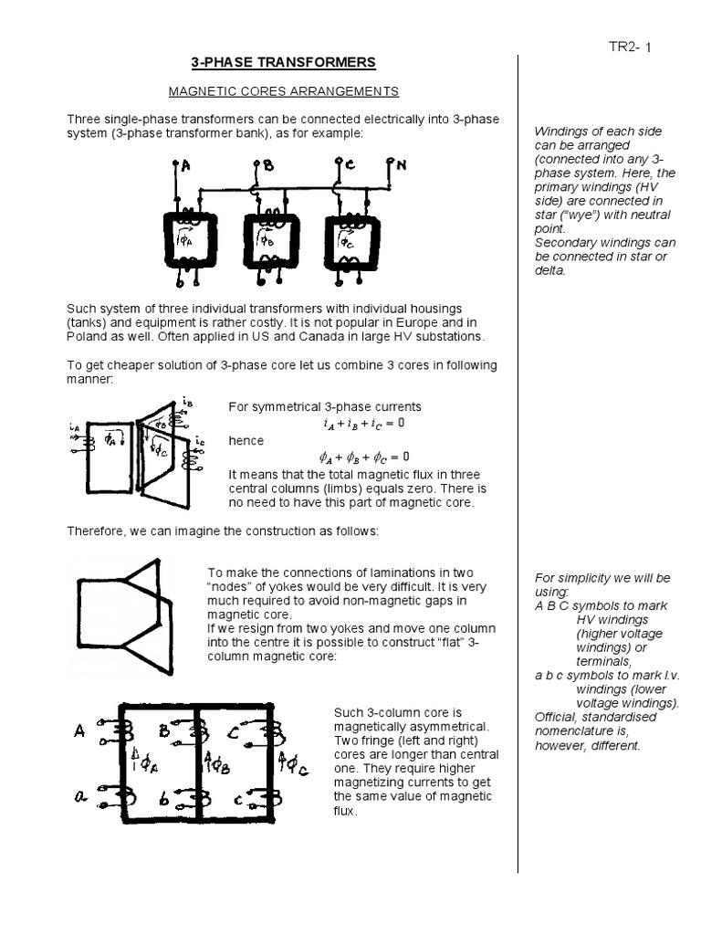 Muito Bom 3 Phase Transformers Transformer Electromagnetism