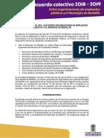 Cartillaacuerdocolectivo2018-2019 Alcaldia y Sindicatos