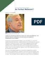 La Dérive de Ferhat Mehenni !