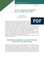 La Evaluacion de La Competencia Matemati