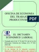 Procedimiento Para El Dictamen Economico Laboral 2009