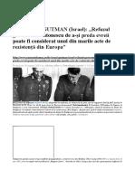 Dr. ISRAEL GUTMAN (Israel) Refuzul Guvernului Antonescu de a-și Preda Evreii Poate Fi Considerat Unul Din Marile Acte de Rezistență Din Europa