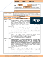 Agosto - 3er Grado Inglés (2018-2019)