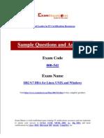IBM 000-541 DB2 9.7 DBA for Linux UNIX and Windows Exam Preparation