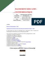 Accompagnement Educatif - Club informatique