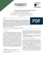 La Producción de Hidrógeno a Través de CH4 Pirólisis Regeneración de Catalizadores de Óxido de Ex Hidrotalcita