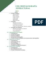 Curso de Cristalografía Estructural