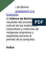 Folclore de Bolivia