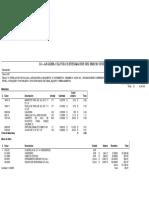 Analisis de Precios Unitarios de Guarniciones y Banquetas