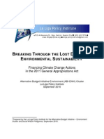 Breaking Through the Lost Decade of Environmental Sustainability