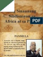 Ang Sinaunang Sibilisasyon Sa Africa at Sa Pacific