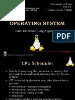 Part 12- Scheduling Algorithms