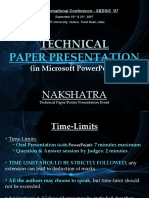 Technical Paper Presentation