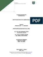 Plan de Estudios Por Competencias de Matematicas 2014