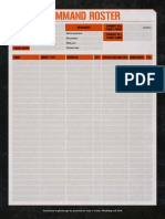 Kill Team Blank Roster Datacards