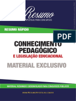 Conhecim Pedagogicos - Resumo Excelente Conteúdo Legislação Public Pedagog.