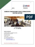 Kuresoi Stakeholders Peace Meeting Report
