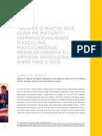 """""""QUEM É O MACHO QUE QUER ME MATAR"""" - HOMOSSEXUALIDADE MASCULINA, MASCULINIDADE REVOLUCIONÁRIA E LUTA ARMADA BRASILEIRA DOS ANOS 1960 E 1970 - James N. Green"""