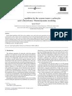Fluid Phase Equilibria Volume 243 issue 1-2 2006 [doi 10.1016%2Fj.fluid.2006.02.017] Aynur Senol -- Liquid–liquid equilibria for the system (water+carboxylic acid+chloroform)-