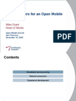 Global Drivers for Open Mobile Ecosystem
