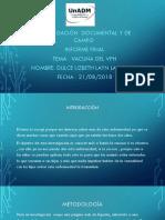 Presentación de Vacuna VPH-equipo-candy