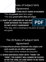 The 20 Rules of Subject Verb Agreement
