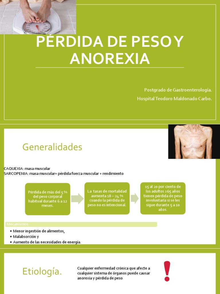 perdida de peso anorexia
