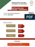 Oftalmologia. Patologia del Cristalino