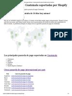 Principales Pasarelas de Pago en Guatemala