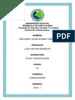 Geovanny J Suárez, Diario Reflexivo - Comunicación 2.1