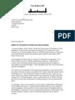 Tom Watson Letter to David Cameron