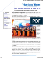 Laos-Japan Friendship Bridge Spans Xekong Development Divide