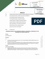 Overseas Medical Review briefings