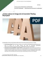 ¿Cómo Valorar El Riesgo de Mi Inversión_ Rating MytripleA