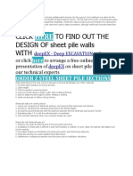 Sheet Pile Walls
