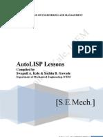 Autolisp Notes New By Swapnil A. Kale