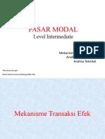 Pasar Modal Level Intermediate