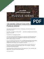 100 MORE GREAT ESCAPE ROOM PUZZLE IDEAS.docx