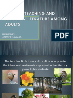 Issues in Teaching and Learning Literature Among Adults