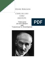Bergson Henri - L'idée de lieu chez Aristote