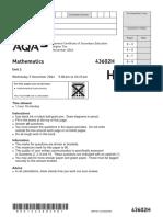 AQA Unit 2 Numberandalgebra Higher Question NOV14