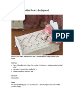 Knitted Hearts Bedspread1