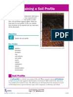 Explaining a Soil Profile E Unit