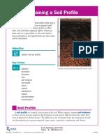 Explaining a Soil Profile E Unit