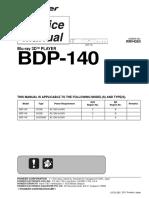 Pioneer BDP-140_Manual de Serviço