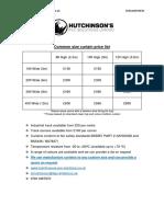 Curtain Price List